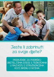 Naslovna stranica Priručnika za podršku obiteljima djece s teškoćama u razvoju i stručnjacima koji brinu o njima